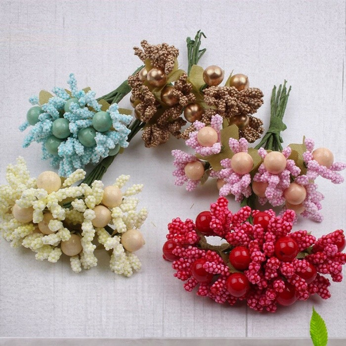 Handmade Foam Artificial Flower Bouquet Diy Corsage Fake Garland