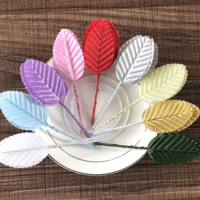 Mini 10 Piece Leaf Shaped Leaves Artificial Flower For Wedding
