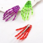 Halloween Gift Gothic Punk Zombie Skeleton Hand Hair Clips Skull Accessories Horror Barrette Kids Hairpin For Women Orange