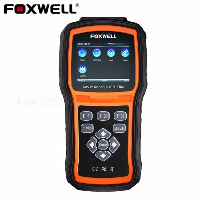 Foxwell NT630 Elite OBD2 Car Diagnostic Scanner, Code Reader Auto Diagnosis Analysis Tool With LCD Display Black