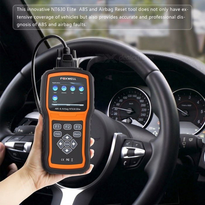 Foxwell Nt630 Elite Obd2 Car Diagnostic Scanner Code Reader Auto Diagnosis Analysis Tool With Lcd Display Black