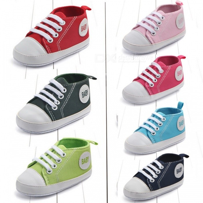 Canvas Classic Sneakers Baby Boys Girls First Walkers Shoes Infant ... 83d92784e3c1