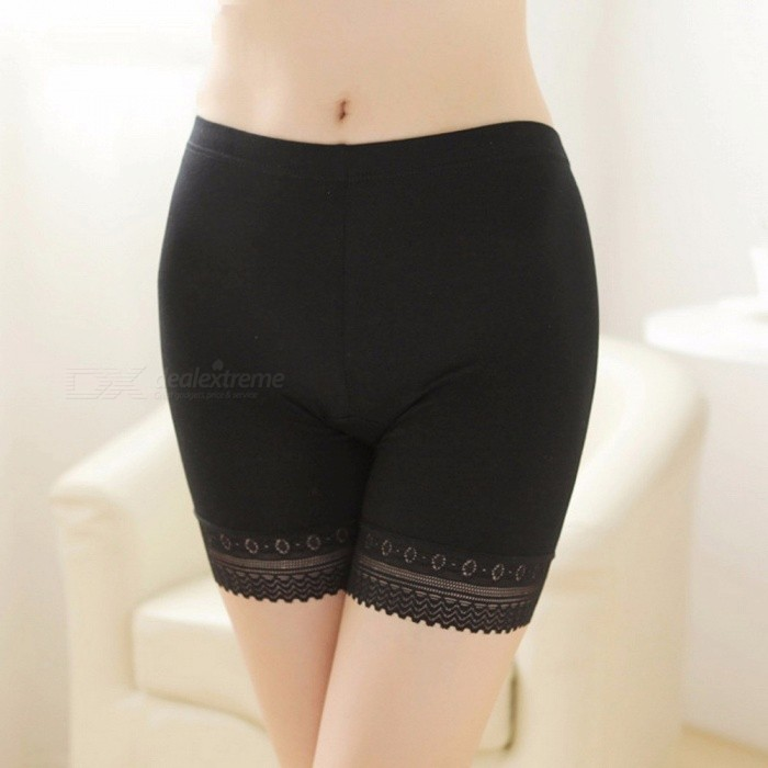 f3fb81e61546b ... Modal Lace Seamless Safety Short Pants Summer Under Skirt Shorts Plus  Size Ice Silk Breathable Tights ...