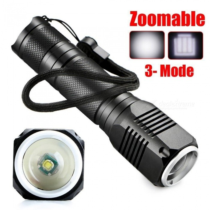Flashlight | Waterproof | Adjustable | Aluminum | Outdoor | Light | LED