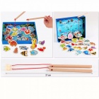 Baby Educational Toys Fish Wooden Magnetic Fishing Toy Set Game Educational Child Birthday/Christmas Gift Sky Blue