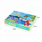 Baby Educational Toys Fish Wooden Magnetic Fishing Toy Set Game Educational Child Birthday/Christmas Gift Blue
