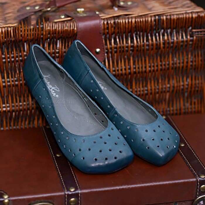 Retro-Handmade-Top-Leather-Women-Boat-Shoes-With-Multi-Holes-Casual-Round-Toe-Slip-On-Flat-Shoes-For-Women-Sky-Blue40