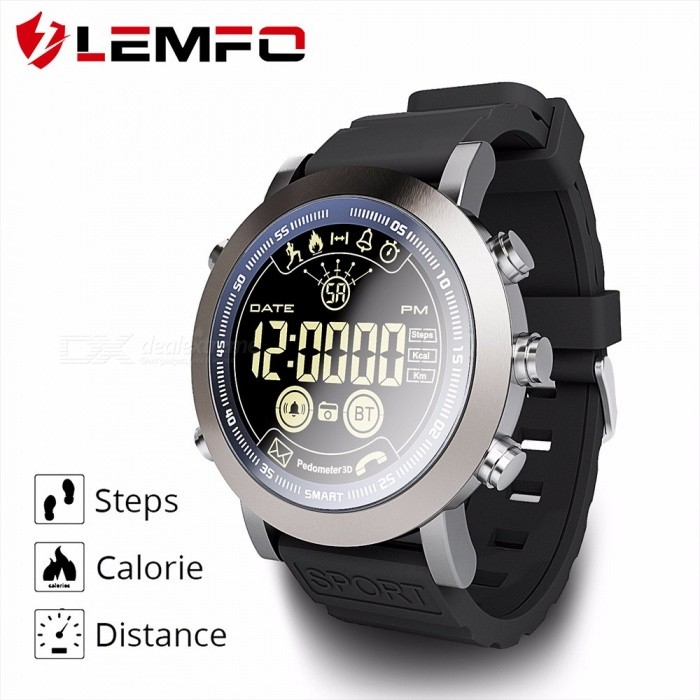 LEMFO LEM LF23 IP68 Waterproof Round Dial Sports Smart Watch With Long Standby Time Black
