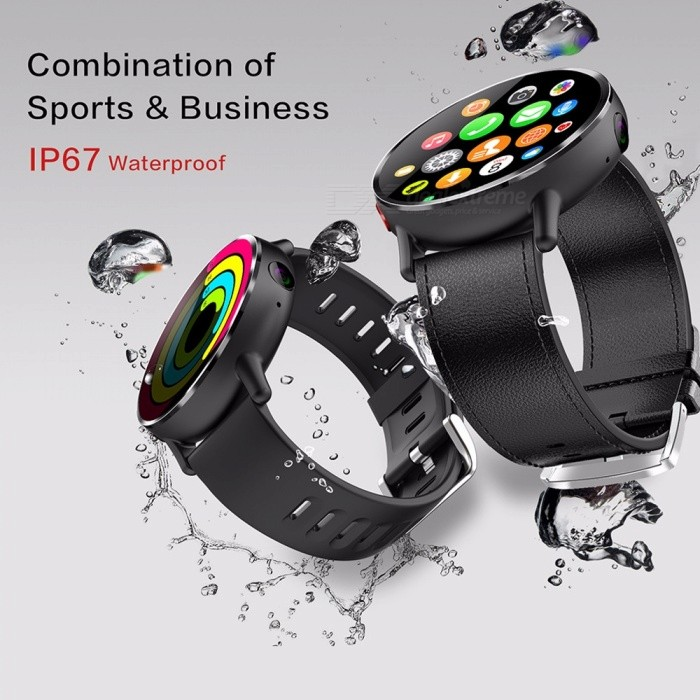 LEMFO LEM X IP67 Waterproof 1GB RAM 16GB ROM 2.03 Inches Screen 4G Smart Watch With 8.0MP Camera Black