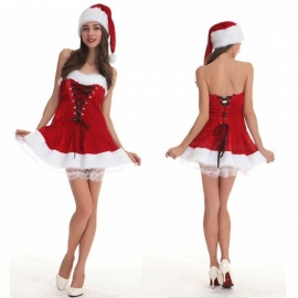 Sexy-Adult-Women-Christmas-Strapless-Corset-Santa-Claus-Costumes-Gifts-Christmas-Party-Dress-With-Hat-2b-Thong-Set-RedOne-Size