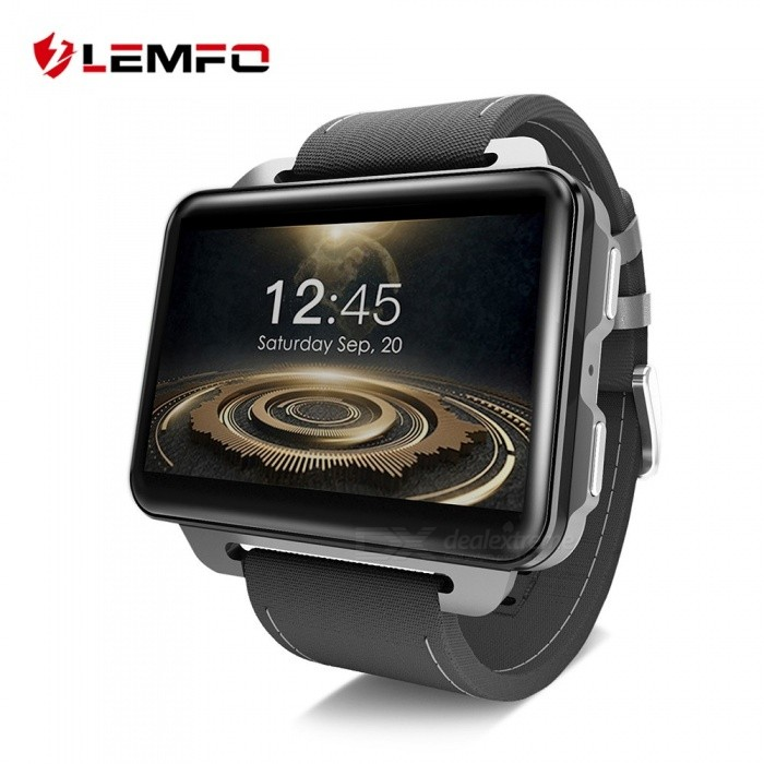 LEMFO LEM4 PRO 1GB RAM 16GB ROM 2.2 Inches Square Screen 3G Smart Watch With 1.3MP Camera Black