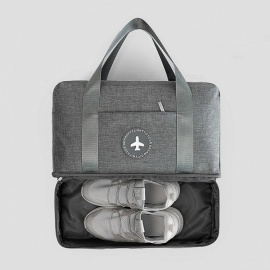 Dry-Wet-Separation-Bag-Portable-Waterproof-Travel-Shoe-Clothes-Storage-Handbags-Sports-Swimming-Wash-Pack-Bags-Black