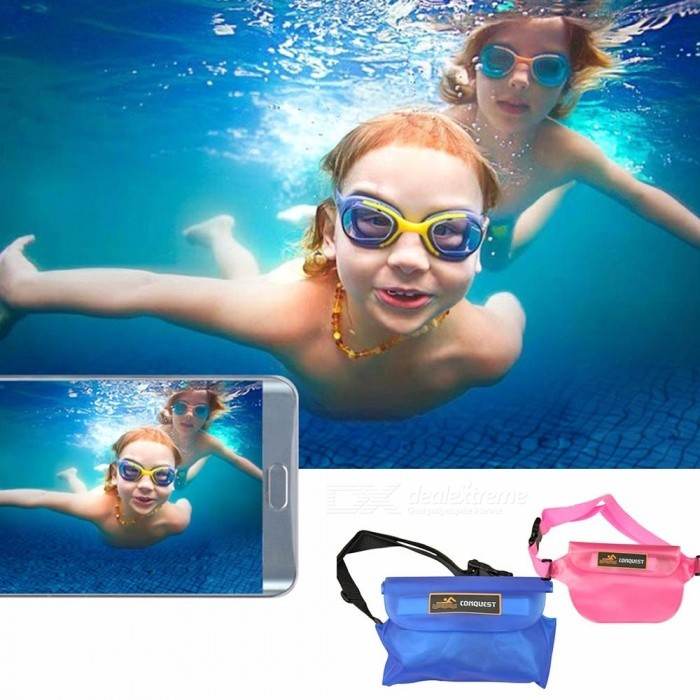 Waterproof Water Sports Storage Bag For Mobile Phone Camera Waist Bag For Outdoor Beach Swimming Water Drifting Blue