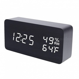 LED-Cube-Wooden-Clock-Voice-Control-Electronic-Desk-Table-Clock-LED-Digital-Watch-no-Radio-For-Kids-Bedside-Alarm-Clock
