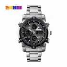 SKMEI Fashion Multifunction Mens Wrist Watch 30m Waterproof Digital Watch With Week Date Stopwatch Alarm Clock Blue