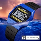 Skmei Multifunction Fashion LED Digital Watch For Couple Student 50m Waterproof Watch With Date Time Week Alarm Blue