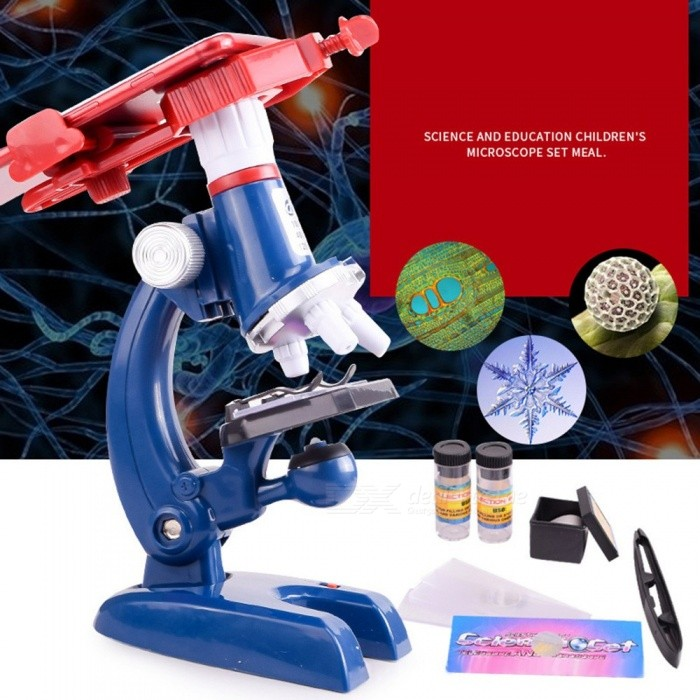 Biology-Microscope-Children-Student-1200X-Educational-Science-Microscope-With-LED-Light-Phone-Holder-Gift-For-Kids-Blue