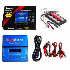 IMAX B6AC 80W 6A Dual  Balance Battery Charger Lipo Nimh Nicd Battery With Digital LCD Screen+T Plug Board