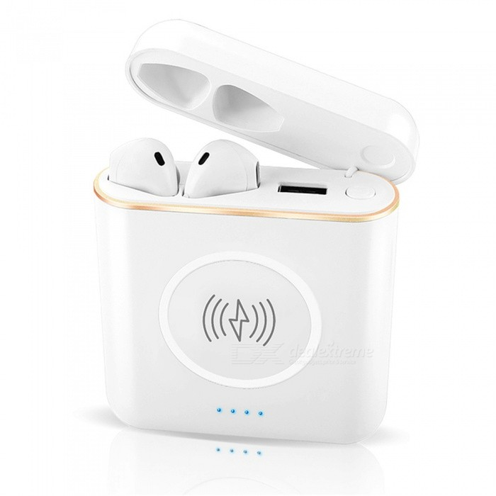 OJADE X6T True Wireless Stereo Earbud, 3-in-1 Power Bank Wireless Rechargeable Bluetooth V4.2 Earphone with Charging Box
