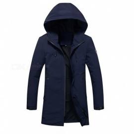 Outdoor-Hooded-Medium-Length-Windbreaker-Soft-Climbing-Waterproof-Jacket
