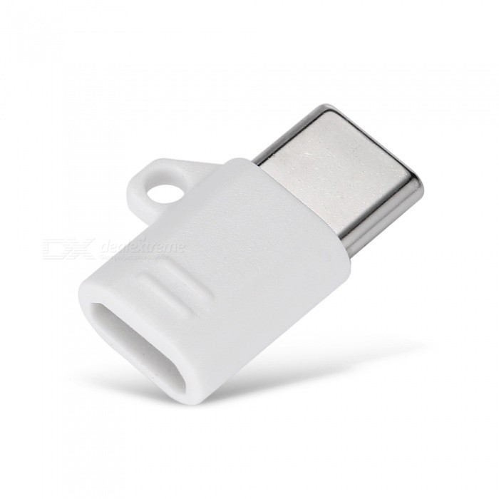 Durable Micro USB 2.0 to Type-C Switchable Adapter with Key Hole