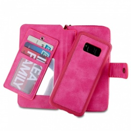 Cooho-Large-Capacity-Mobile-Phone-Case-Womens-Leather-Wallet-Case-for-Samsung-S8