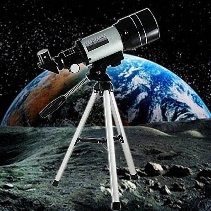 HD-Monocular-Telescope-Outdoor-Professional-Space-Astronomic-Telescope-With-Portable-Tripod-For-Children-Student-Silver