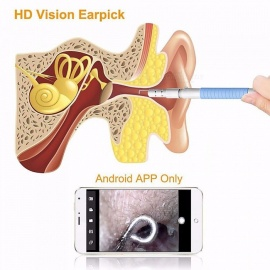 Three-in-one Promotion Visual Ear Examination Endoscope Multifunction Earpick Spoon Clean Tool Random Color
