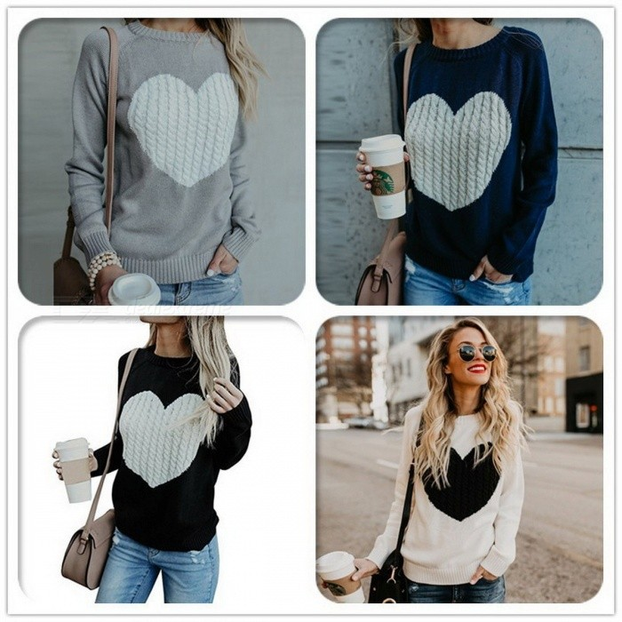 Autumn Winter Sweater Womens Long Sleeve Pullover Basic Sweaters