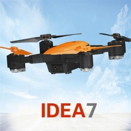 Le-Idea7-4-Channel-GPS-FPV-HD-Camera-1080P-Hover-RC-Height-Keep-Remote-Four-Axis-Aircraft-Orange