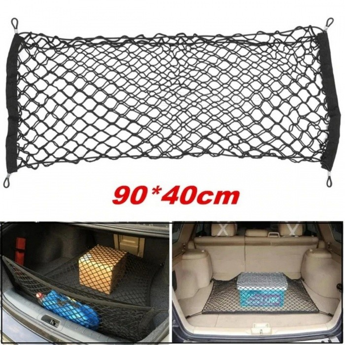 Stretch Luggage Baggage Bag Fixed Net 90 X 40cm Car Trunk Luggage Stacking Mesh Net Black