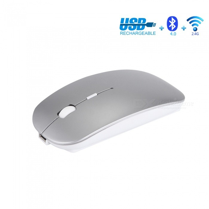 Rechargeable 2.4Ghz Wireless Bluetooth 4.0 Business Office Mouse