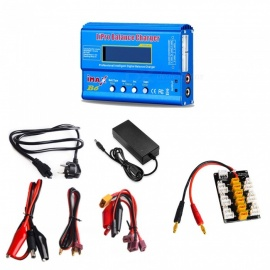 IMAX B6 Digital Li-po Battery Balance Charger + 12V 6A Power Adapter + EU Plug Power Supply Wire+XT30 Plug Board