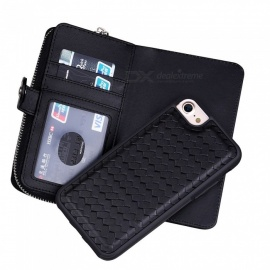 Cooho Large Capacity Mobile Phone Wallet Case, Leather Split Zip Phone Case for IPHONE 7/8