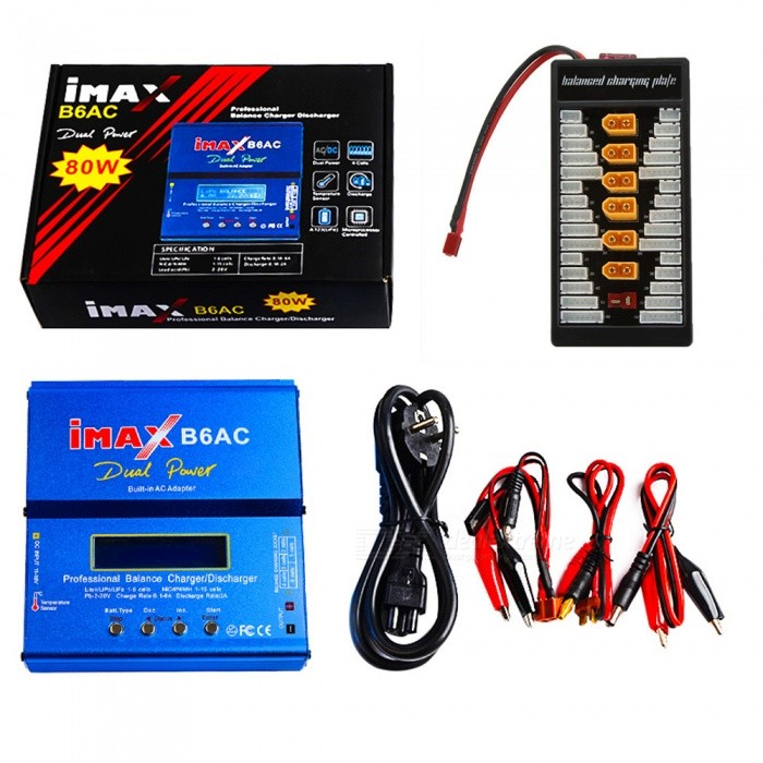 IMAX-B6AC-80W-6A-Dual-Balance-Battery-Charger-with-Digital-LCD-Screen-2b-XT60-Plug-Board