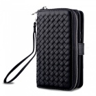 Cooho Large Capacity Mobile Phone Wallet Case, Leather Split Zip Phone Case for Samsung S8P
