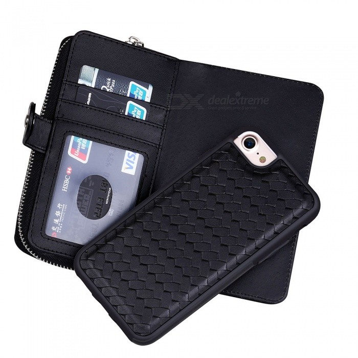 Cooho-Large-Capacity-Mobile-Phone-Wallet-Case-Leather-Split-Zip-Phone-Case-for-IPHONE-6-Plus
