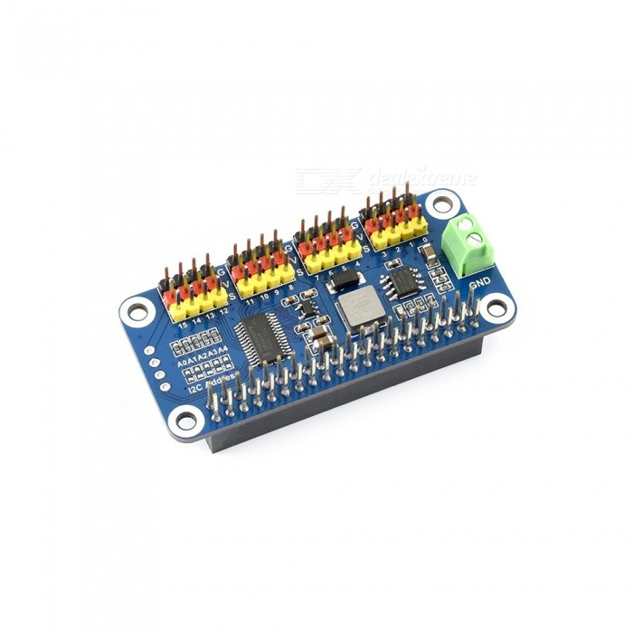 Waveshare-Servo-Driver-HAT-for-Raspberry-Pi-16-Channel-12-bit-I2C