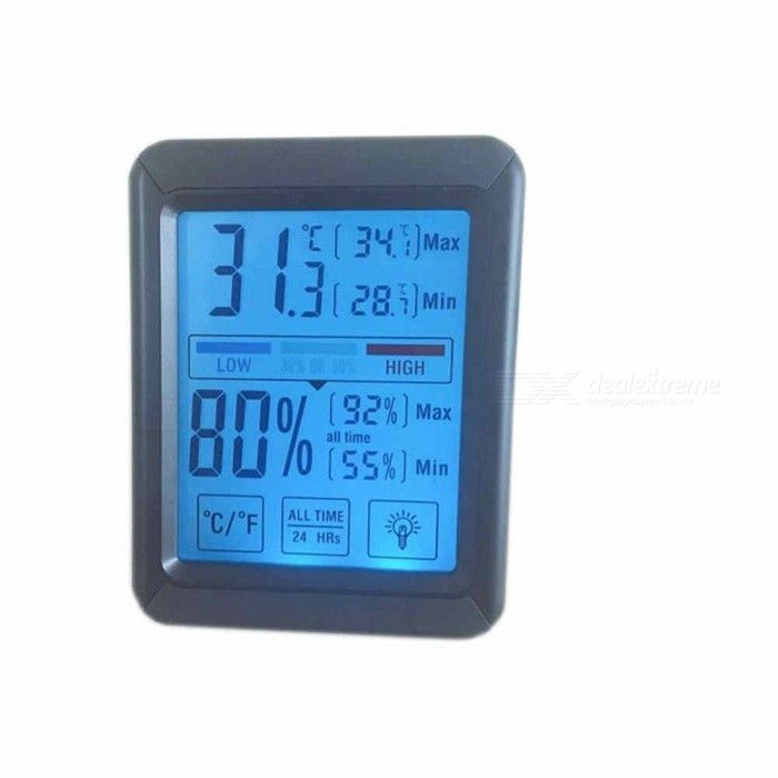 High-Precision-Touch-Screen-Electronic-Thermometer-and-Hygrometer