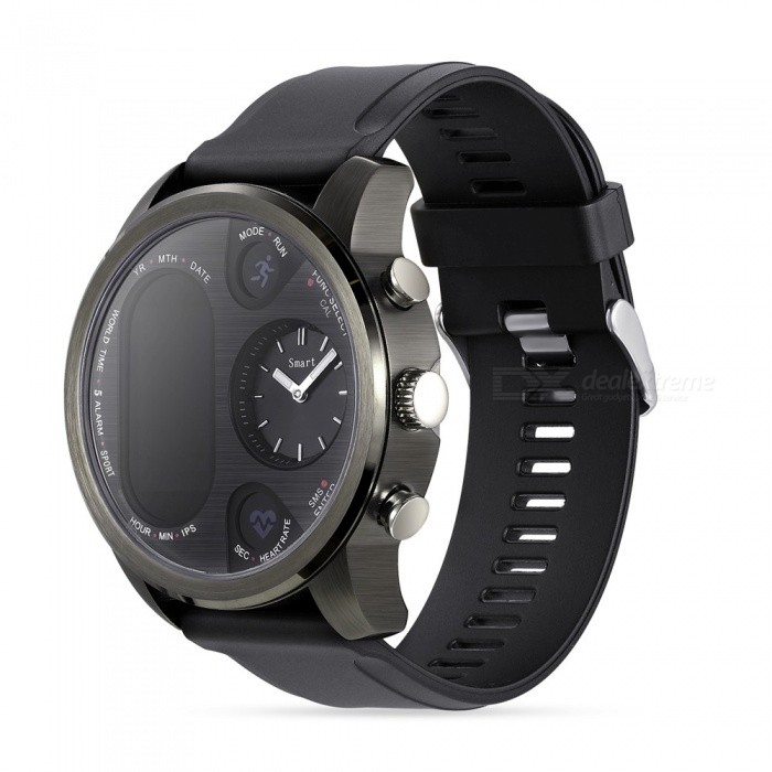 T3 Fashion Bluetooth Smart watch / Double Screen Quartz Movement / Heart Rate / Blood Pressure / Blood Oxygen Monitoring
