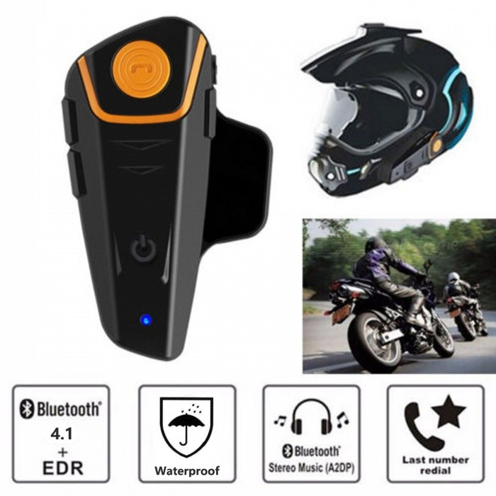 Portable Helmet Bluetooth Headset, Easy to Install