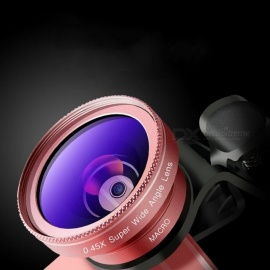 CYKE-2-in-1-045X-Wide-Angle-Lens-2b-125X-Macro-Lens-For-Cell-Phone-External-Clip-on-Lens-Black