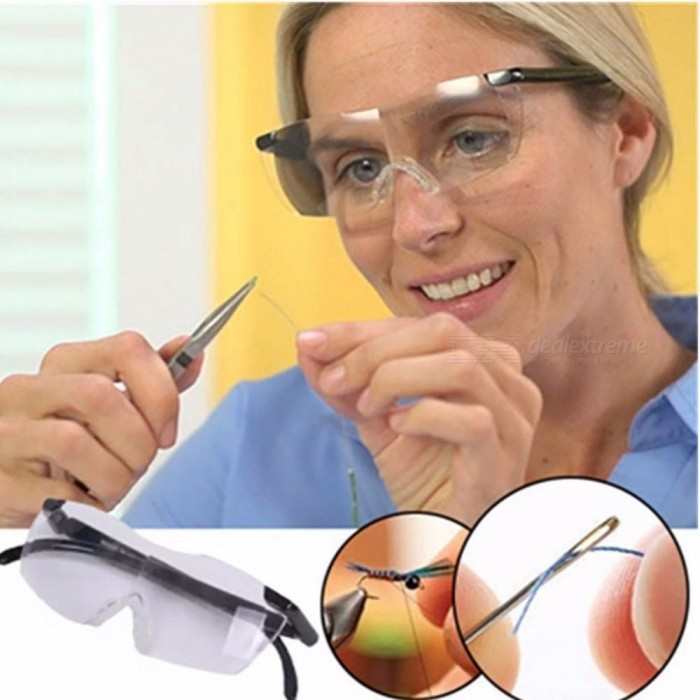 250 Degree Vision Magnifier Eyewear Reading Glasses Portable Gift For Parents Presbyopic Magnification +250/Black
