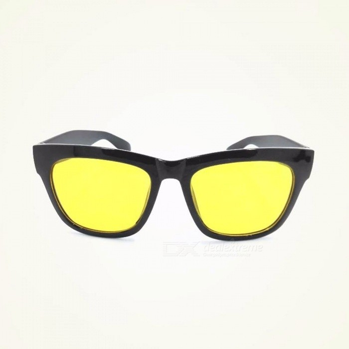 Day Night Vision Anti-glare Driving Cycling Sunglasses Rain And Fog Days Graced Sun Glasses For Mens Yellow