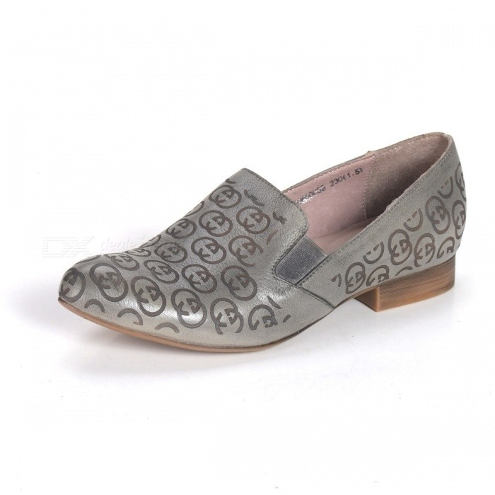SpringAutumn-Womens-Shoes-Genuine-Leather-Loafers-Totem-National-Flat-Soft-Pointed-Toe-For-Women-Gray34