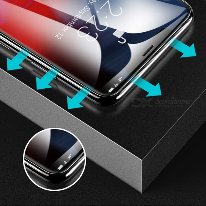 separation shoes d663f 072c4 ROCK Full Coverage Waterproof 9D Tempered Glass Screen Protector Film For  IPHONE 9, XS Plus Transparent/iPhoneXs plus 6.5