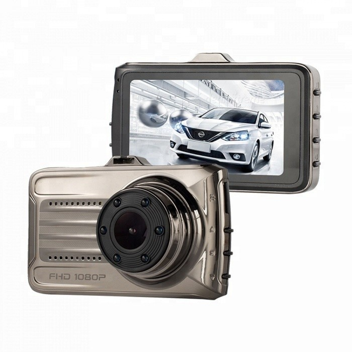 T666 1080P Full HD Car Vehicle Driving Dashcam, 3 Inches IPS Screen Night Vision Auto Safety Camera