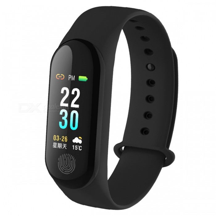 DMDG Smart Bracelet with Blood Pressure / Heart Rate Monitor, Color Screen IP67 Waterproof Fitness Tracker Wristband