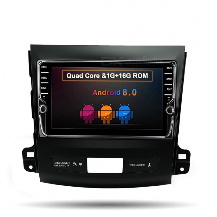 Funrover Unique 8quot IPS Wi-Fi Car Player w/ Stereo GPS Navigation for Mitsubishi Outlander 2006-2014/Peugeot 4007/Citroen C-Cross