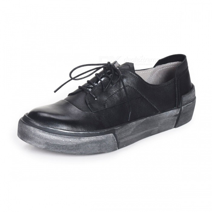 Retro-Autumn-Genuine-Leather-Mens-Shoes-Casual-Breathable-Lace-up-Shoes-For-Men-Black38